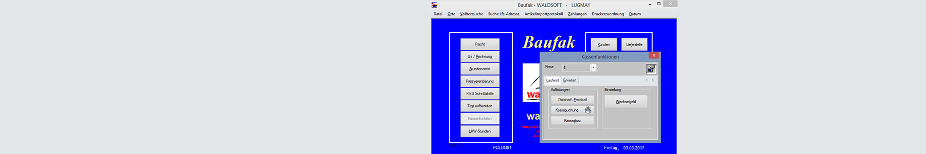 waldsoft Software Baufak