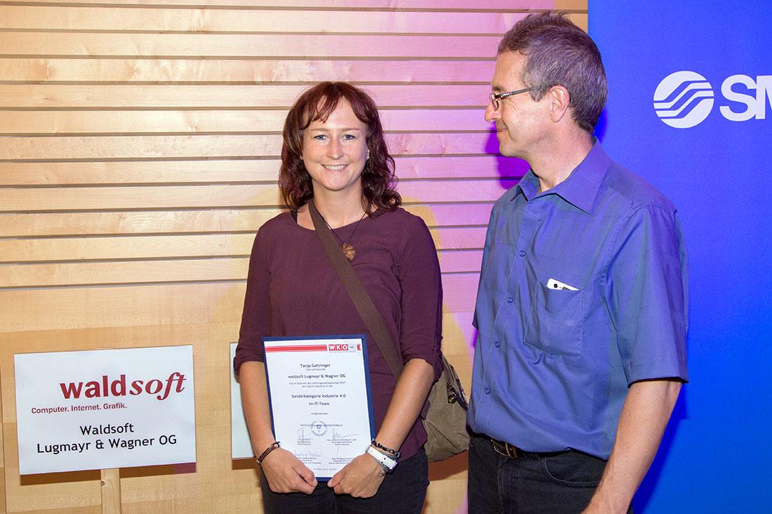 Lehrlingswettbewerb Industrie 4.0 - Tanja Gattringer und Ludwig Wagner, Foto waldsoft