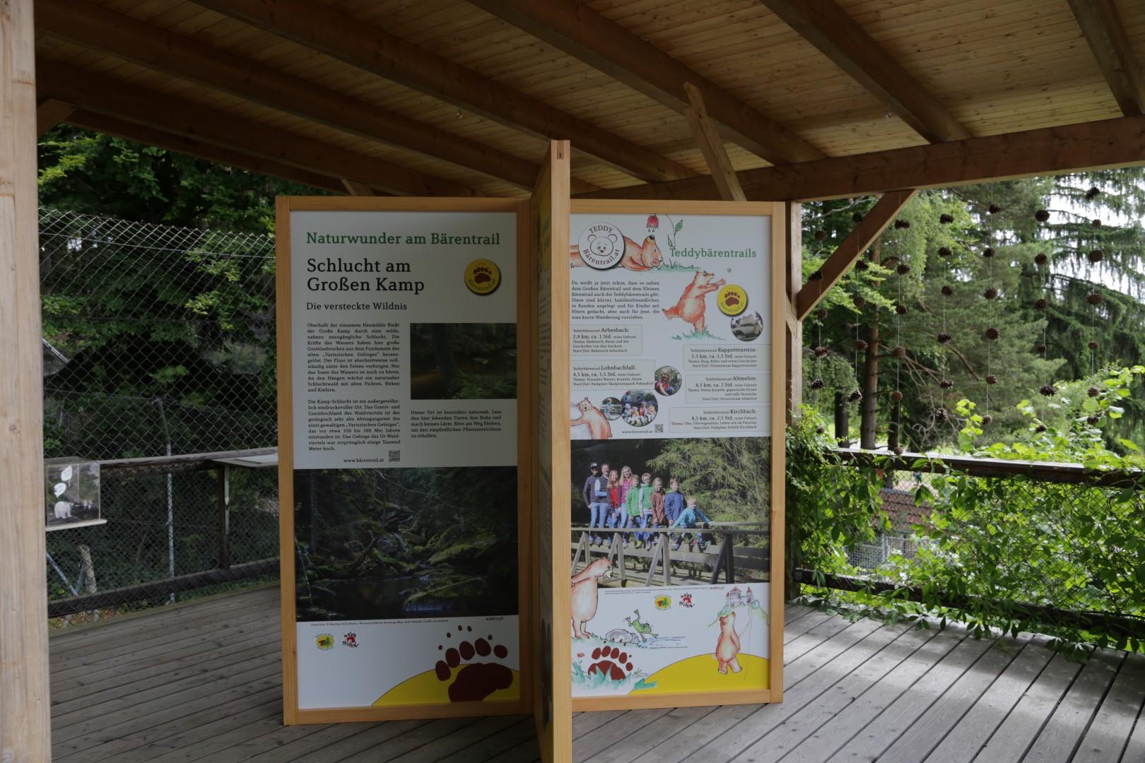 Schautafeln Infokreuz im BÄRENWALD Arbesbach