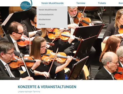 Donauphilharmonie Stockerau – Website