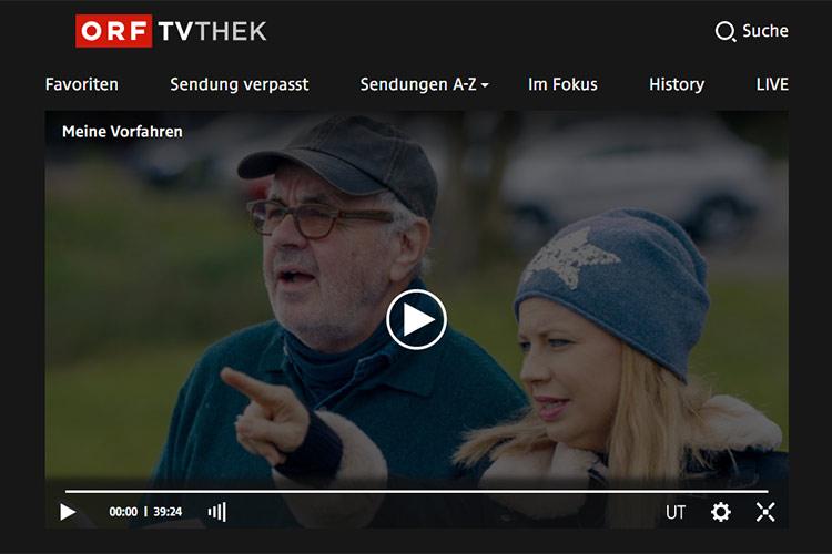 Fernsehserie MEINE VORFAHREN mit Kunde Prof. Felix Gundacker